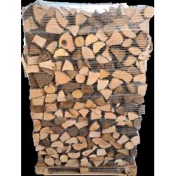 Palette bois de chauffage coupe 50cm