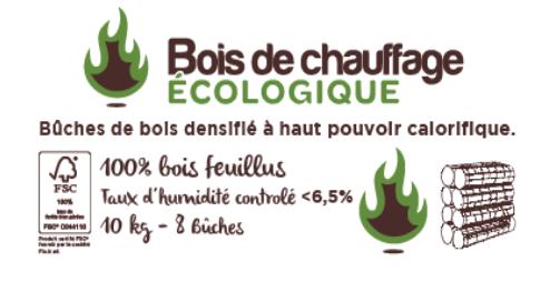 Bois de Chauffage Ecologique vente de bûches de bois compressé